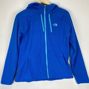 The North Face Blue Hooded Thin Fleece Sweater Lrg